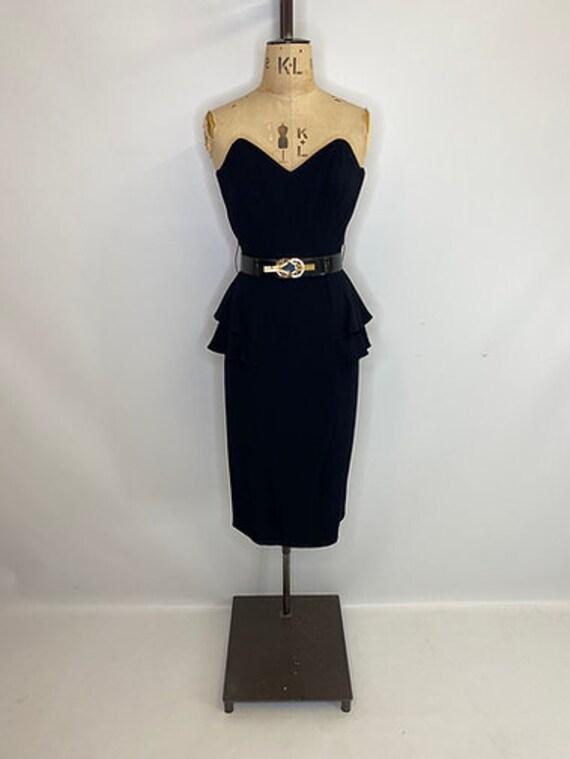 80's Peplum Dress