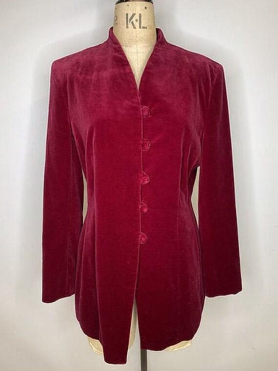 40's Vintage Velvet Victoriana Style Jacket