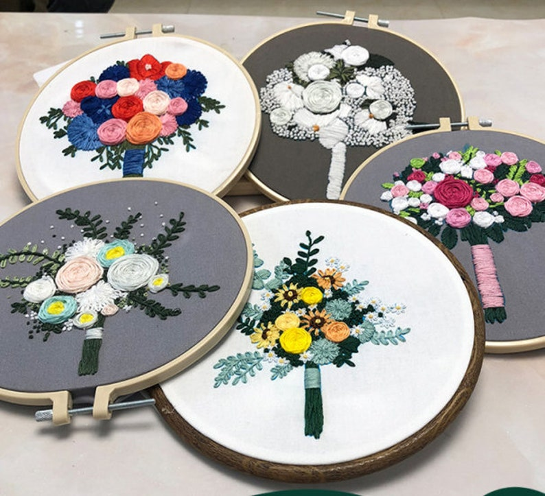 Embroidery Kit,,Embroidery Kit Beginner,Hoop Art,Modern Embroidery,DIY Kit Cross Stitch,Embroidery Art