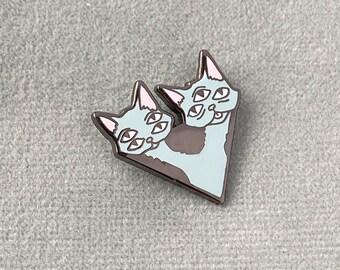 Cat Twins Lapel Pin