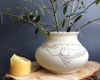 "Vase ""Sturgeon"", hand-potted."
