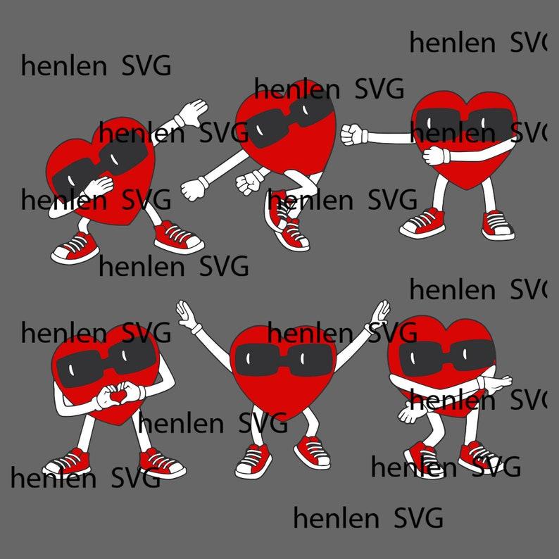 Dancing Hearts Dance Challenge Valentines Day Boys Girl Kids T-Shirtsvg