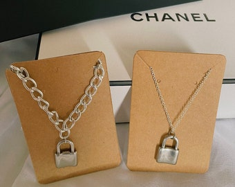 Aesthetic Lock Chain Necklace
