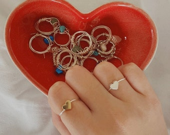 Adjustable Heart Wire Rings