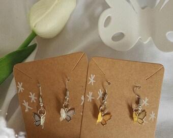 Aesthetic Butterfly Earrings & Necklace