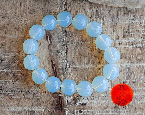 Moonstone bracelet, Natural Blue Moonlight Bracelet, Gemstone bracelet, Healing bracelet, Mala bracelet, Gift for soul,