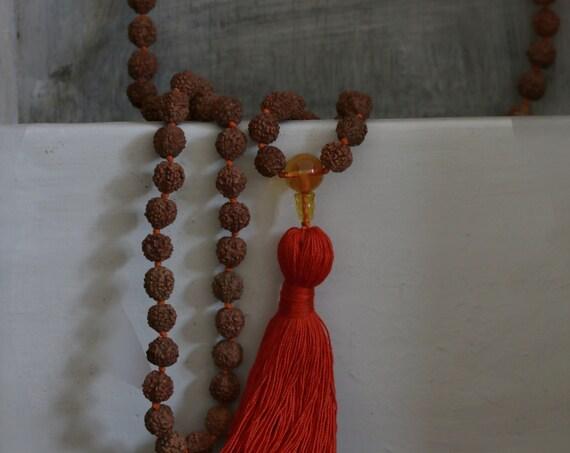 108 Mala Beads, Rudraksha mala, 108 rudraksha beads, Japa Mala, 108 mala beads
