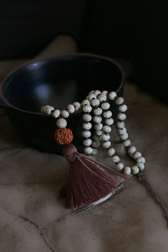 Bodhi seeds mala beads, 9*6mm Natural Lotus Seed Mala