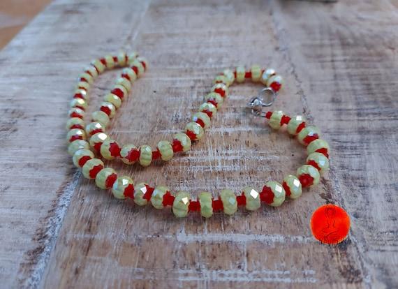 Yellow choker, Seed bead choker, Everyday necklace, Bohemian choker necklace, Tribal choker