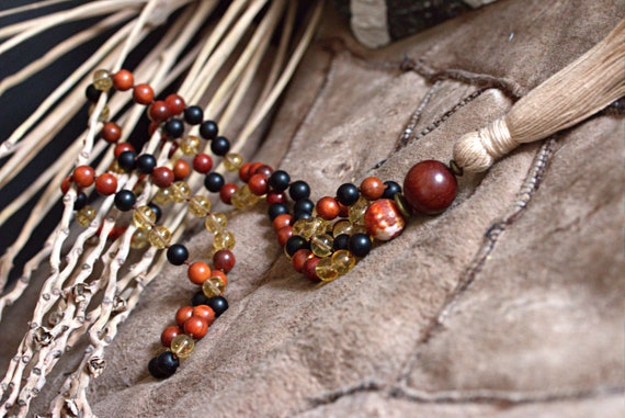 Citrine mala, citrine mala beads, citrine necklace