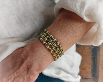 Beaded wrap bracelet superduo beads, boho bead bracelet, 4x - 5x Wrap Bracelet, wrap bracelet, bohemian jewelry