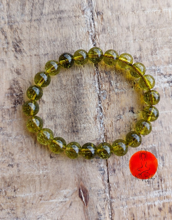 Mala Peridot Bracelet, Mala Beads Bracelet, Yoga Mala Bracelet, Healing Bracelet, Mala bracelet, Gift for Him