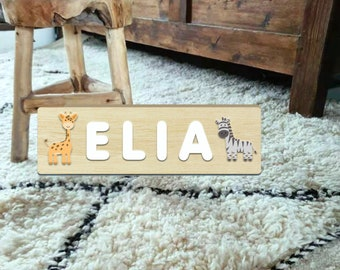 Custom name Puzzle, Personalized name puzzle.Wooden Name Puzzle ,educative puzzle ,Toddler Toys ,Baby Gifts,Gift for Kids