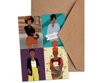Many Thanks   African American Thank You Card