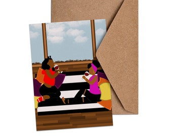 Catch Up!   African American Self Care   Girls Day Card