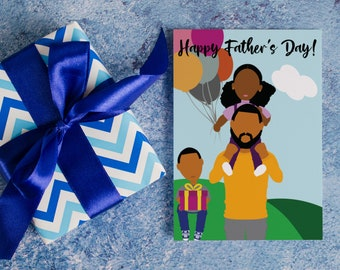 Happy Father's Day - African American Father's Day Card   Complexion Option A