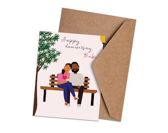 Happy Anniversary, Babe! - African American Anniversary Card - Black Love
