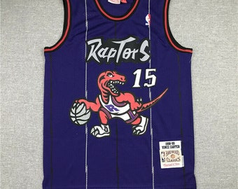 Toronto Raptors Vince Carter #15 Basketball Swingman Throwback Retro Jersey *