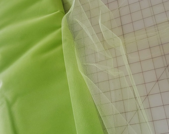Lime Green Tulle fabric-cut by yard