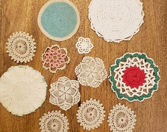 Miniature Doilies for Doll Houses  #1005