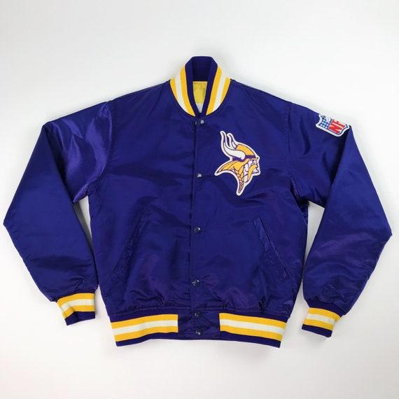 VTG NFL Minnesota Vikings Starter Satin Starter Ne