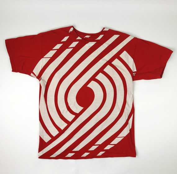 NBA Portland Trail Blazers Red Lunatik Tee Size La