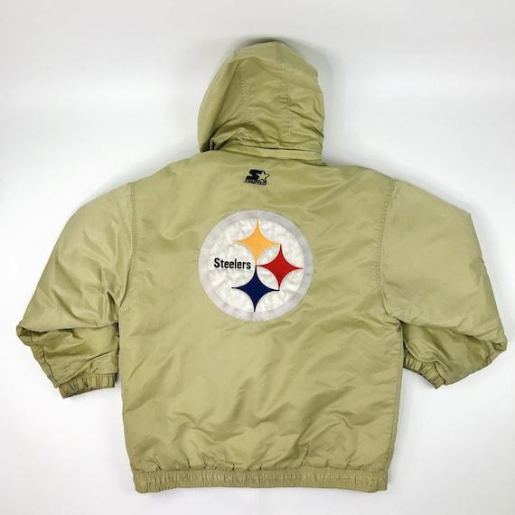 VTG NFL Pittsburgh Steelers Starter Jacket Coat Si