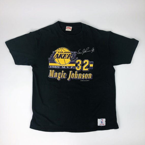 VTG NBA Los Angeles Lakers Magic Johnson Nutmeg Mi