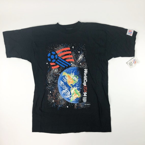 NWT VTG World Cup Soccer USA 1994 Magic Johnson T'