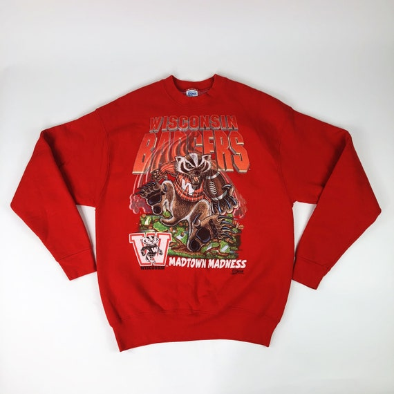 VTG Wisconsin Badgers Salem Sportswear Sweater Adu