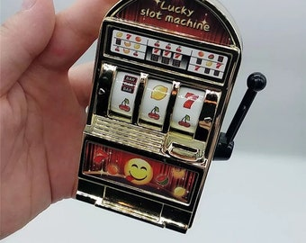 Lucky Jackpot Mini Slot Machine Antistress Toys Games for Children Kids Safe Machine Bank Replica Funny Gag Toys