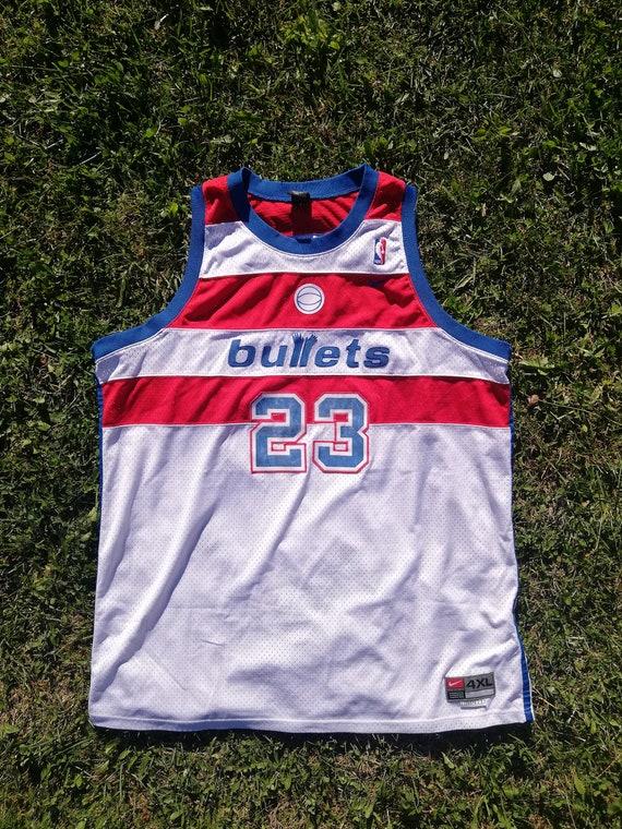 BULLETS JORDAN NBA Shirt Nike Original Michael Jor