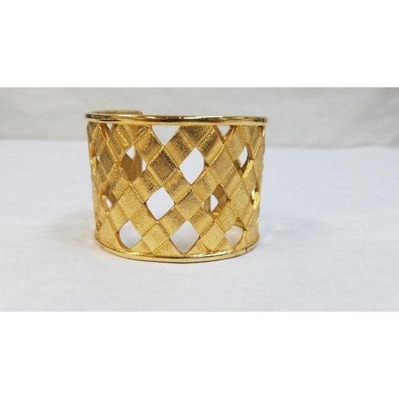 JOAN RIVERS woven cuff gold bracelet