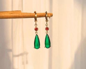 Howls moving castle huggie hoop earrings, anime cosplay earrings art, studio ghibli inspired earrings, non-pierced ear clips, anime jewelry