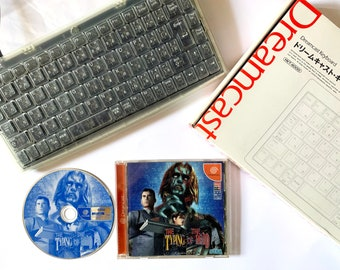Dreamcast Keyboard + Typing of the Dead Set Clear Box DC Sega Game Japan JP