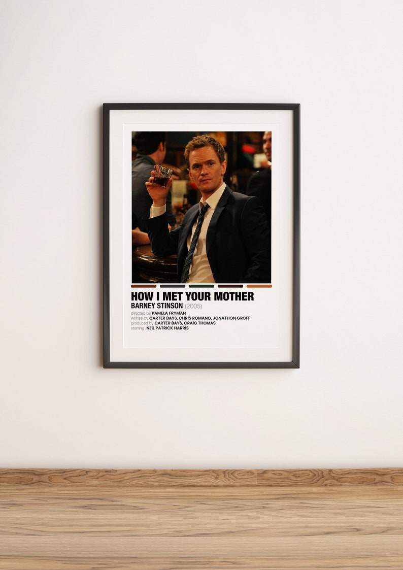 BARNEY STINSON How I Met Your Mother Polaroid Color Palette Movie Posters Digital Poster Polaroid Movie Posters