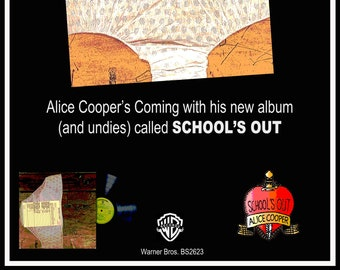 """18""""x24"""" Alice Cooper """"Schools Out""""  """"Promo Poster"""" reimagined"""