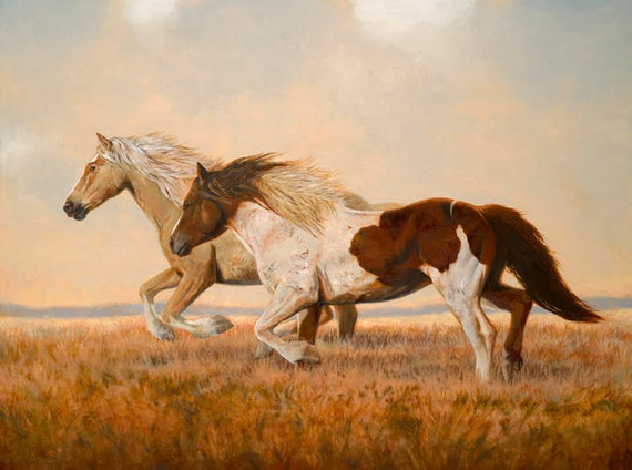 Oil Painting Giclee Print Mustang Flats