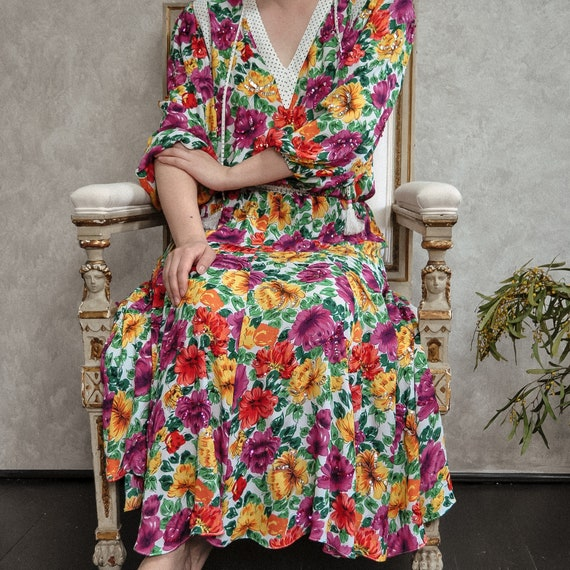 Diane Freis Vintage Flower Romance Dress