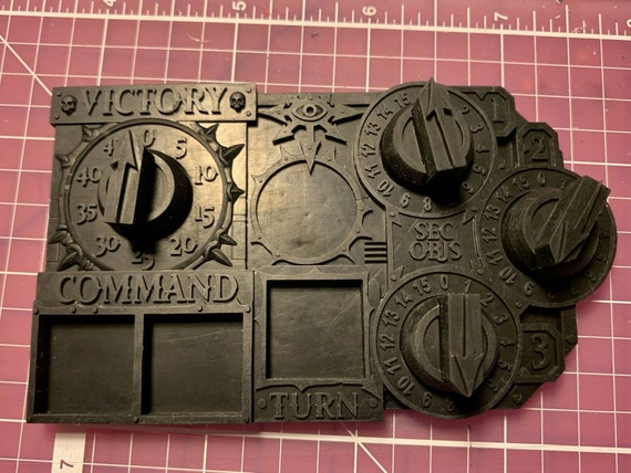 Chaotic Cultist Themed Objective Tracker / Counter for Tabletop War Games Warhammer