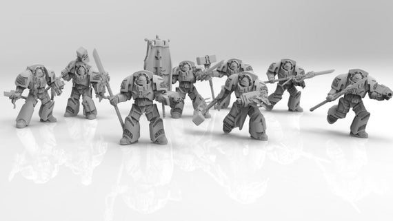 Silver Paladins minis for Tabletop War Games