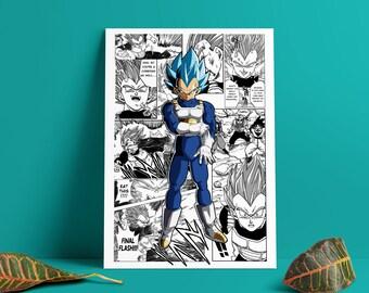 11x17 13x19 Dragon Ball Super Poster Trunks All Forms SSJ 1 2 Rage DBZ