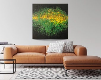 Original acrylic painting enlightenment, canvas, abstract, 100x100 cm