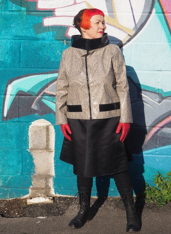80s 60s SPACE AGE vinyl jacket from London boutiqu