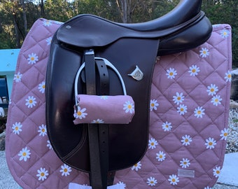 Pink Daisy Saddle Pad