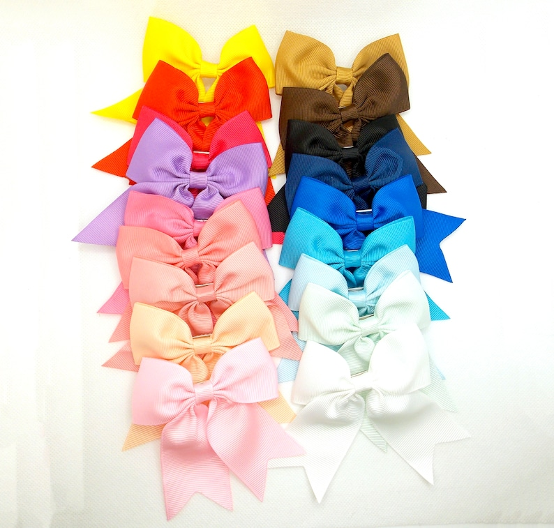Girls Hair Clip Alligator Clip Hair Bow Cute Bow. Elegant Bow Initial Name Bow Fabric Toddler Bows Girls Boutique Accessory