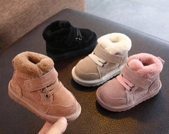 Baby Snow Boots Fur Warm Cotton Kids Sneakers Soft Bottom Toddler Baby Shoes