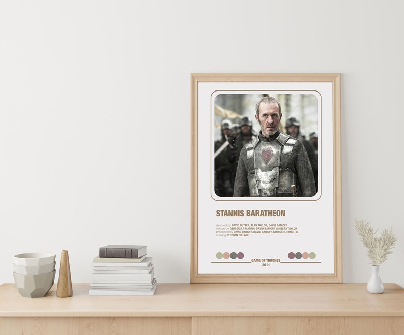 Polaroid Movie Posters Game of Thrones Polaroid Color Palette Movie Posters Digital Poster STANNIS BARATHEON