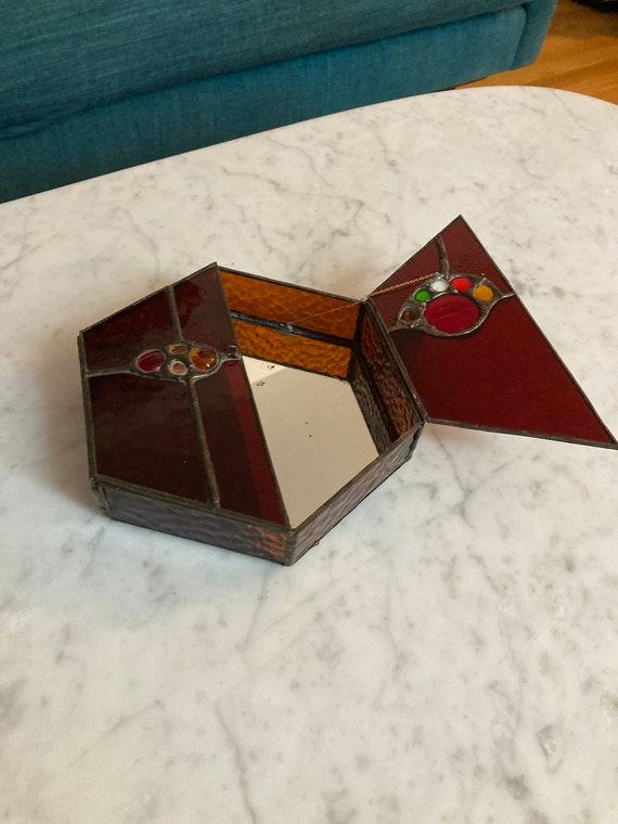 Stained Glass Rainbow MemoryJewelry Box