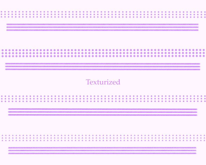 double and single monolines and stamps Bundle of solid and texturized multiple monolines  triple